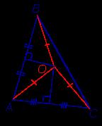 Описанная около треугольника окружность серединный перпендикуляр свойства доказательства
