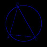 Описанная около треугольника окружность треугольник вписанный в окружность